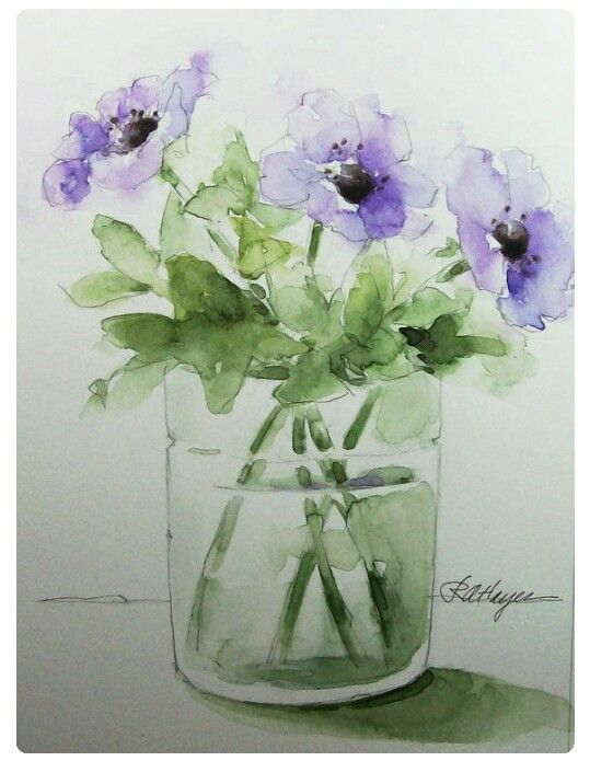 Pin By Martha Phillips On Watercolor Still Life Watercolor
