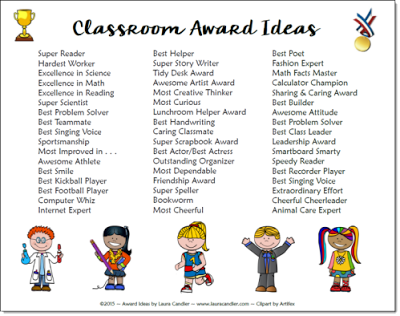 Classroom Awards Make Kids Feel Special Elementary Education
