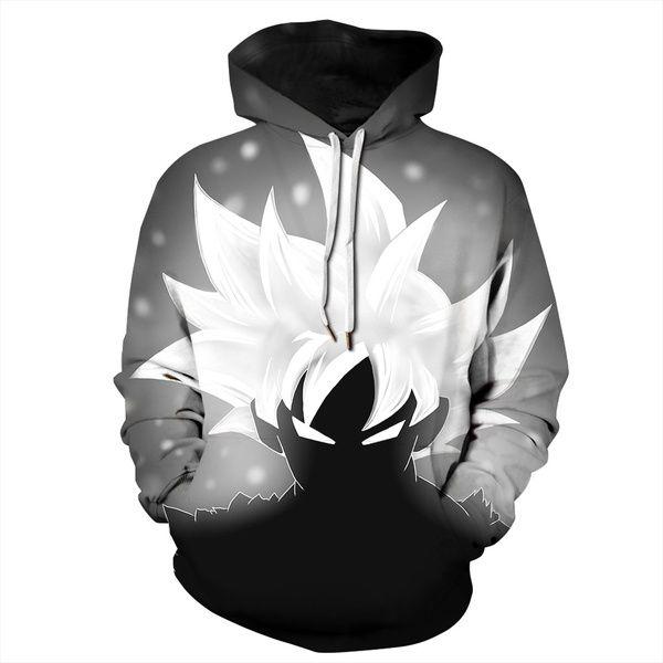 Mens Hoodies 3D Sweatshirt Dragon Ball Buu Tracksuit Thin Coat White Casual Tops