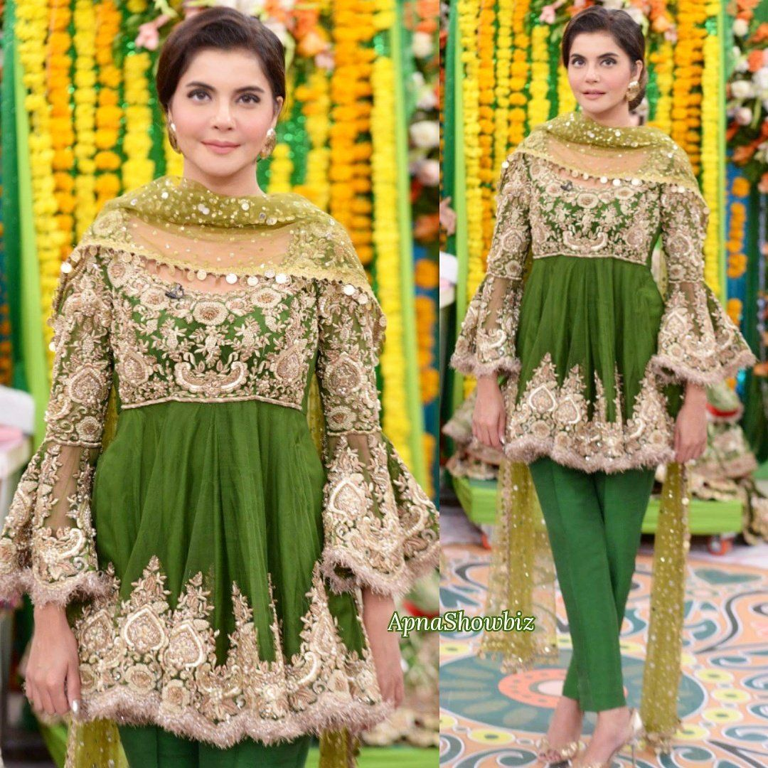 Latest Pakistani Bridal Mehndi Dresses 2018 for Brides 4