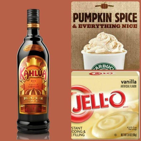 Pumpkin Spice Latte Pudding Shots...1 Small Pkg. French
