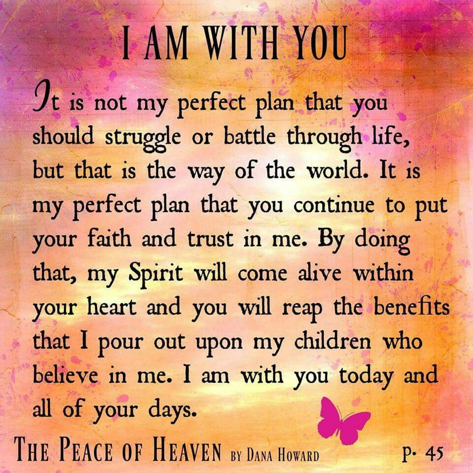 I am with you prayer scriptures morning prayers