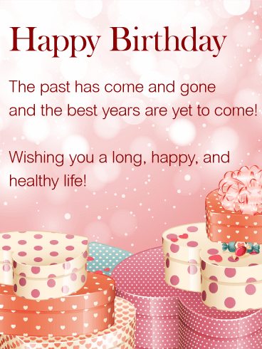 Wishing You A Happy Life Happy Birthday Wishes Card This Sweet