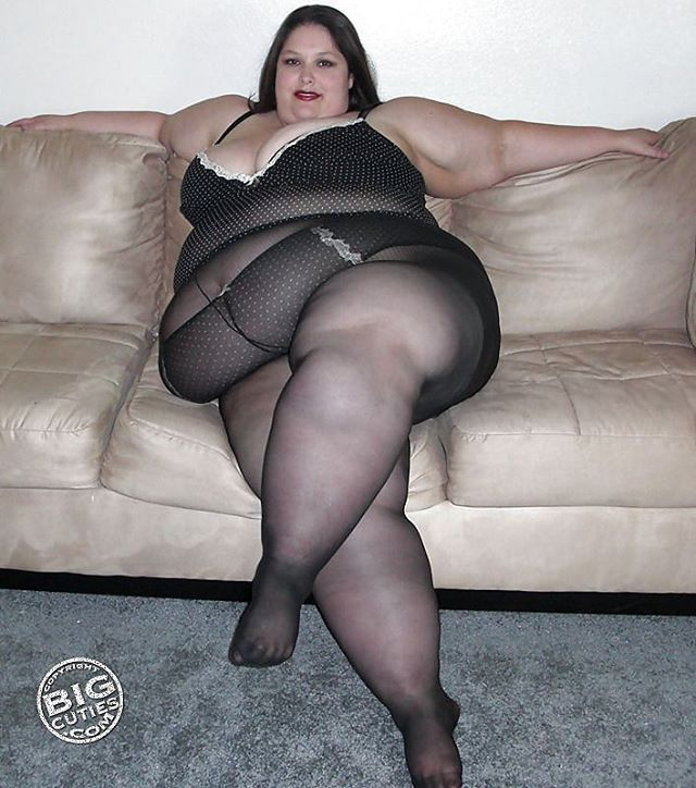 Sheer pantyhose before sizzling