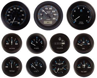 Tachometer 0 7000 Rpm Eclipse Series Gauges 1 68399p Gauges Outboard Boat Engine
