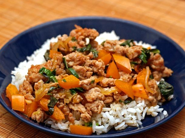 Dinner Tonight Thai Style Minced Chicken With Basil And Chiles Recipe Recipe Mince Recipes Dinner Dinner Tonight Dinner