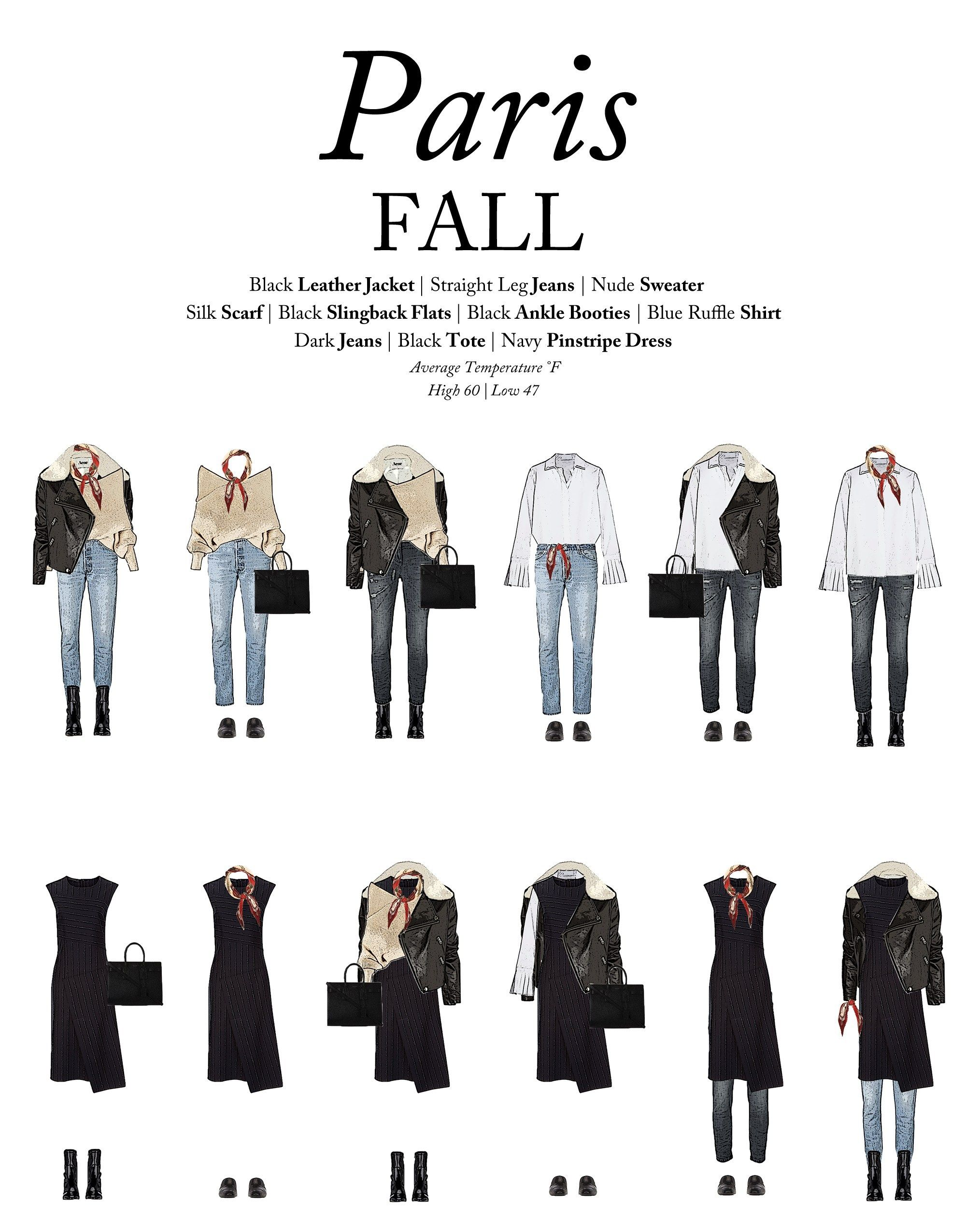 What to Wear to Paris in the Fall - Outfits For Tr