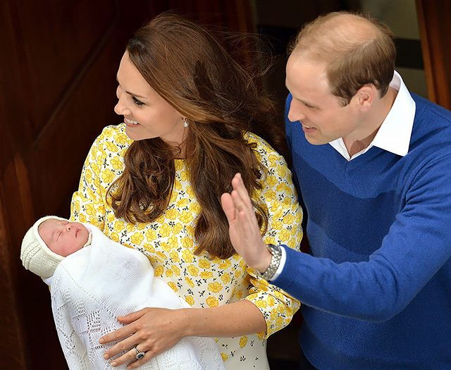 Prince George's little sister (the siblings met privately inside the hospital shortly before) put her adorable pout on display just hours after being welcomed into the world. Middleton's mini-me is now fourth in line to the throne.