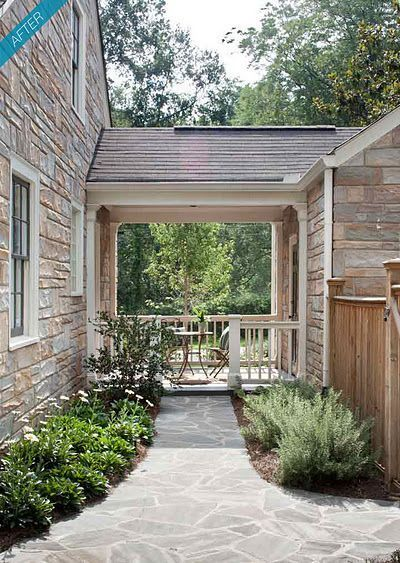 Adding attached garage with breezeway nate s house for Attached garage plans with breezeway