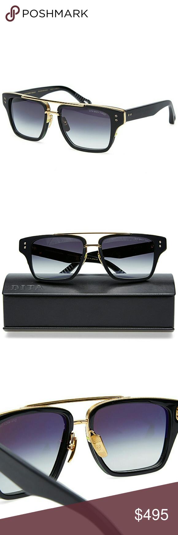 13c66a23f49 Dita Mach Three Unisex Sunglasses Model   DRX-2059-A-BLK-GLD-55 Gold ...
