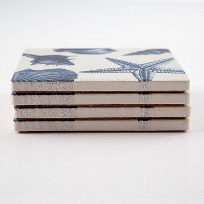 Thirstystone Shell Toss 4 Piece Occasions Coaster Set Coaster Set Coasters Decorative Boxes