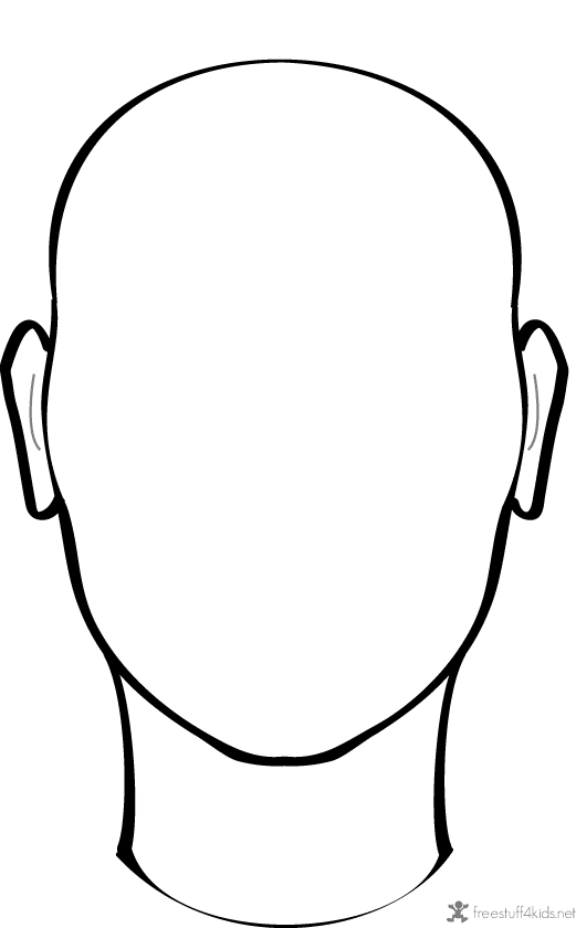 Printable Blank Faces | Face outline, Face template, Face ...