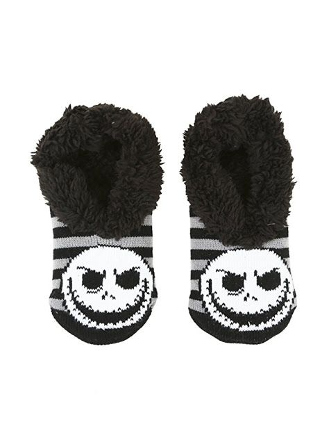 Disney The Nightmare Before Christmas Jack Fair Isle Slipper Boots New