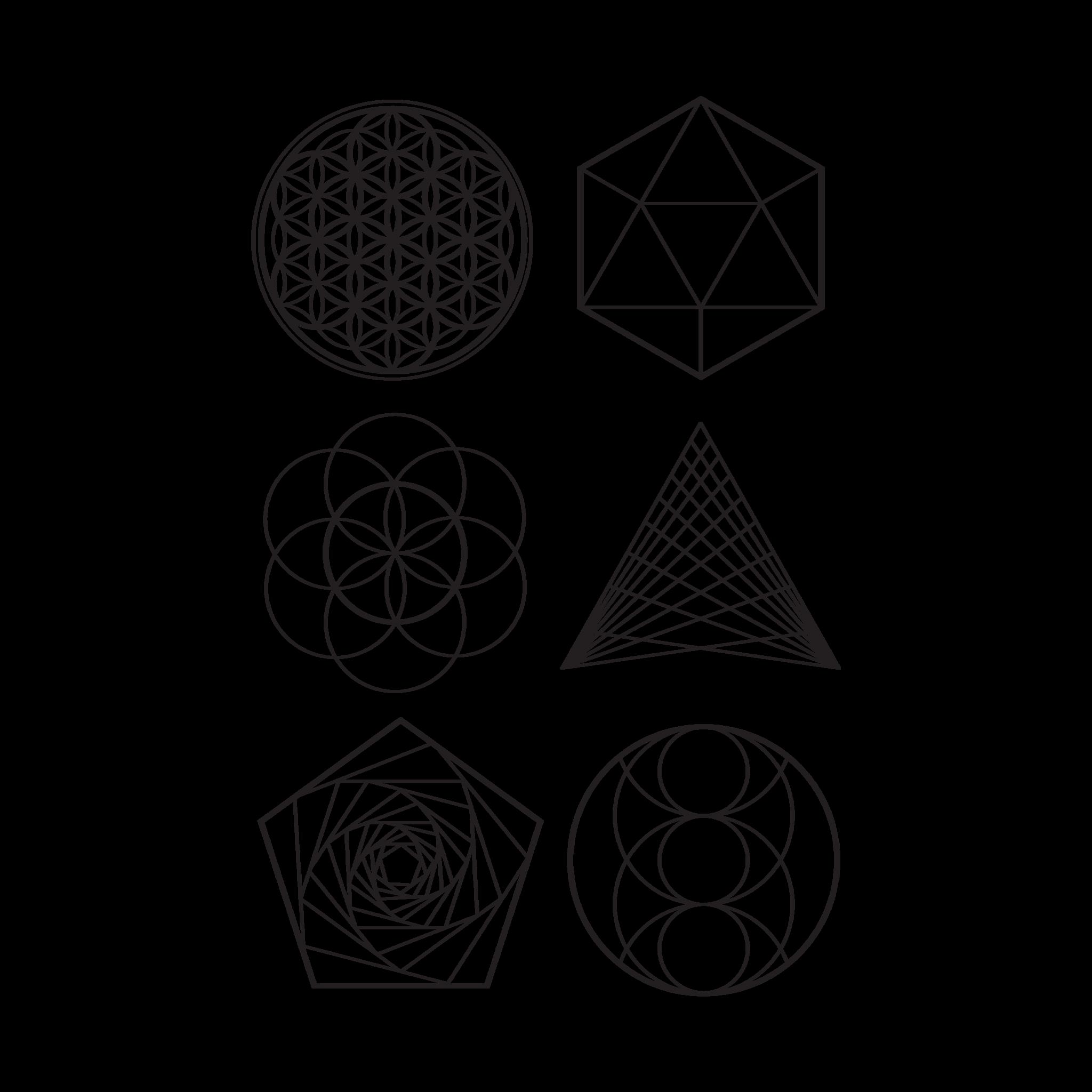 странные геометрические фигуры картинки гистограмма чёрно-белый график