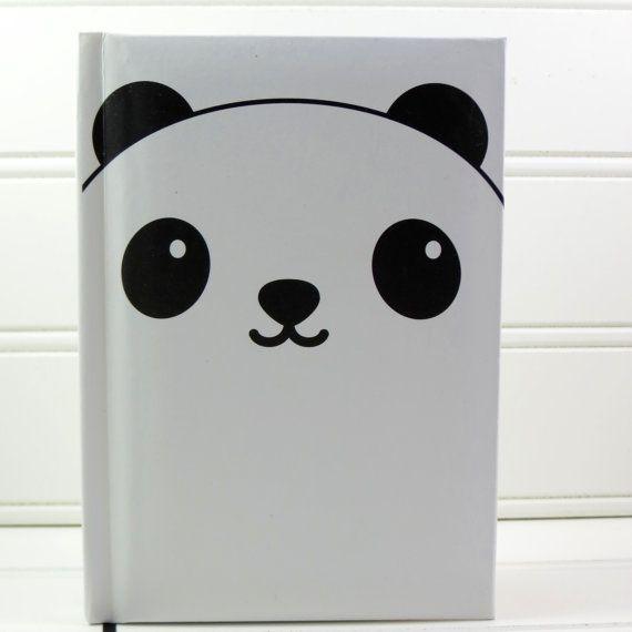 Cute Notebook, Panda Notebook, Panda Journal, Panda Gift, Hardcover Notebook, Girls Notebook, Lined Notebook, Mothers Day Gift for Her, Boys