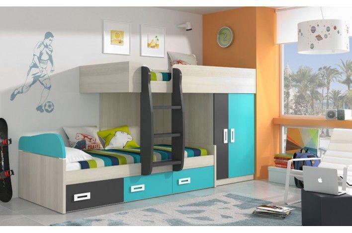 ¿Quién duerme arriba? Y además, todo integrado para ocupar el mínimo espacio con este #modular #juvenil