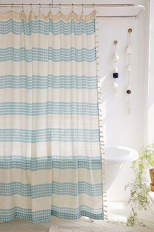 Isra Floating Weft Shower Curtain With Images Bathroom Shower