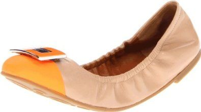 9e55cbddd527 Marc by Marc Jacobs Women's 635022-13 Ballet Flat,Nude/Orange,40 EU/10 M US  Marc by Marc Jacobs. $228.00
