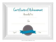sample achievement certificate template flyers pinterest