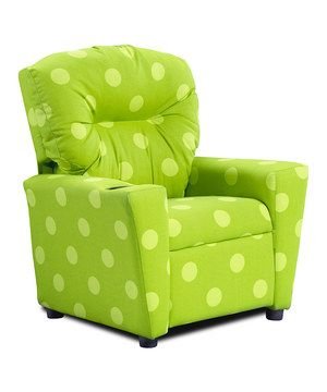 Kicking back to read a book and relax is made super fun with this recliner chair that offers a special spot for kids to feel cozy and comfy in. It even includes a built-in plastic cup holder in the right armrest to avoid spills.