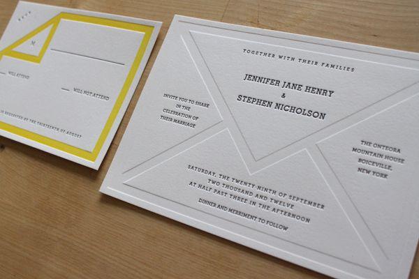 love the envelope letterpress