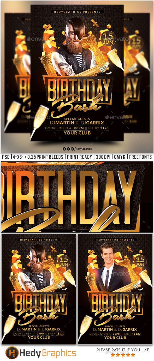 birthday bash flyer birthday bash flyer template and birthdays
