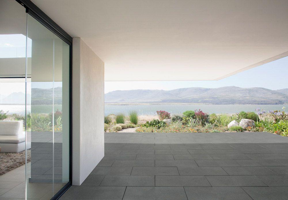 Platinum Zilvergrijs #dakterras Balkon  dakterras tegels - gartenbepflanzung am hang