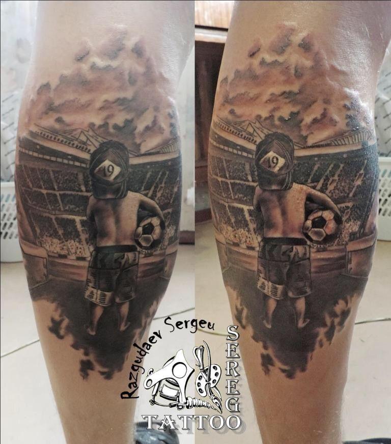 Football Tattoo Man Boys Players My Pinterest Football Tattoo