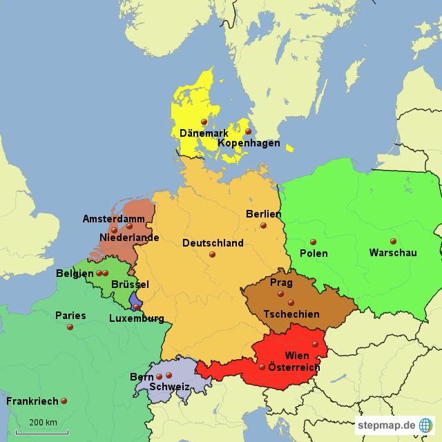 deutschland mit nachbarländer karte karte deutsche nachbarlaender lz 1348882.png (640×640