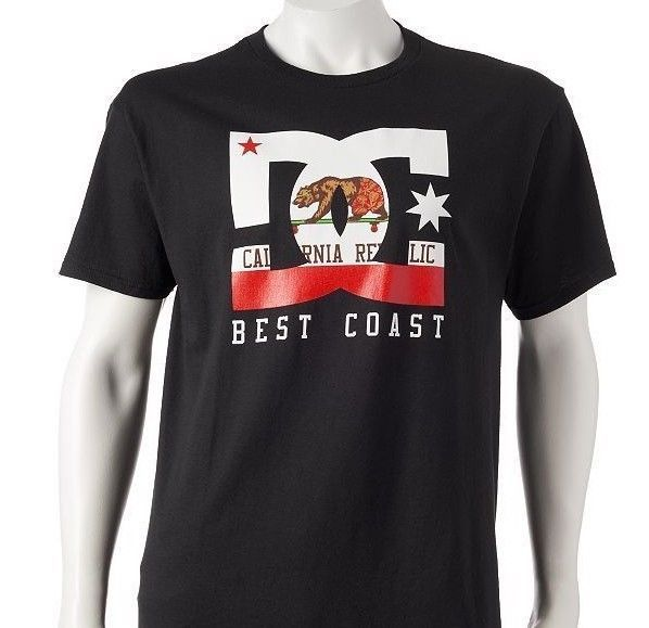004891b9457a3 DC SHOES Co California Republic State Flag Bear Best West Coast Mens TShirt  NEW  DCShoes  GraphicTee