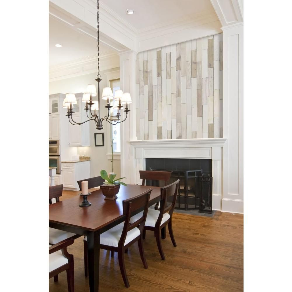 Nuvelle Deco Planks Light House White Washed 1/2 in. x 4 in. Wide x ...