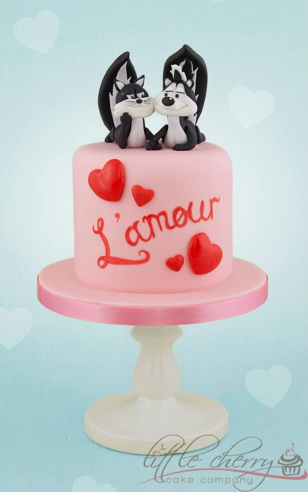 Pepe Le Pew Little Cherry Cake Company Skunk Cakes Pinterest