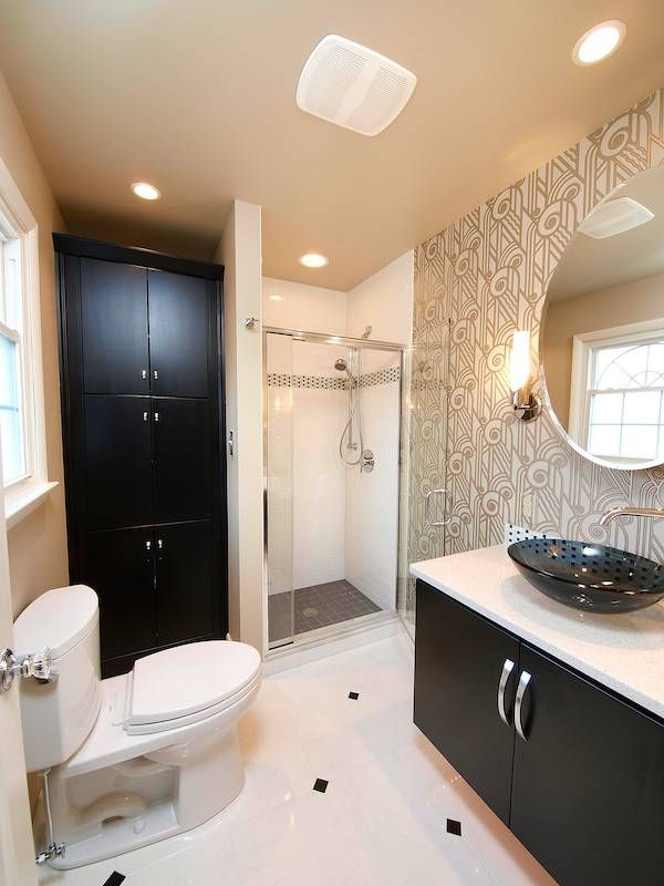 Traditional Black And White Bathroom Design Classy  Master Endearing Updated Bathrooms Designs Design Inspiration