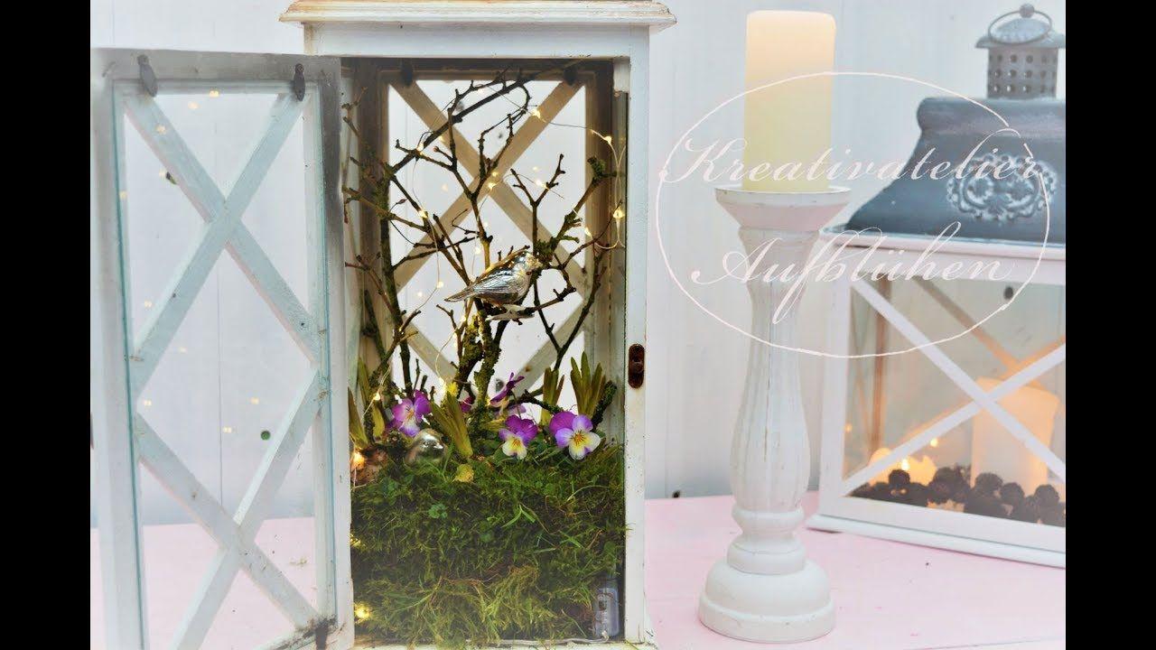 Woodside Laterne mit Kerze drinnen /& draußen