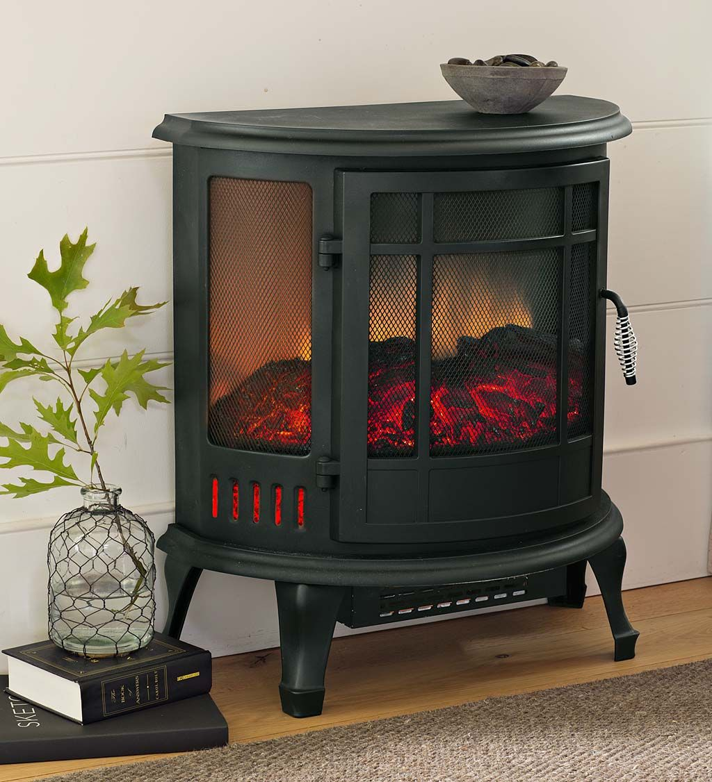 Curved Panoramic Electric Fireplace Stove | Electric ...