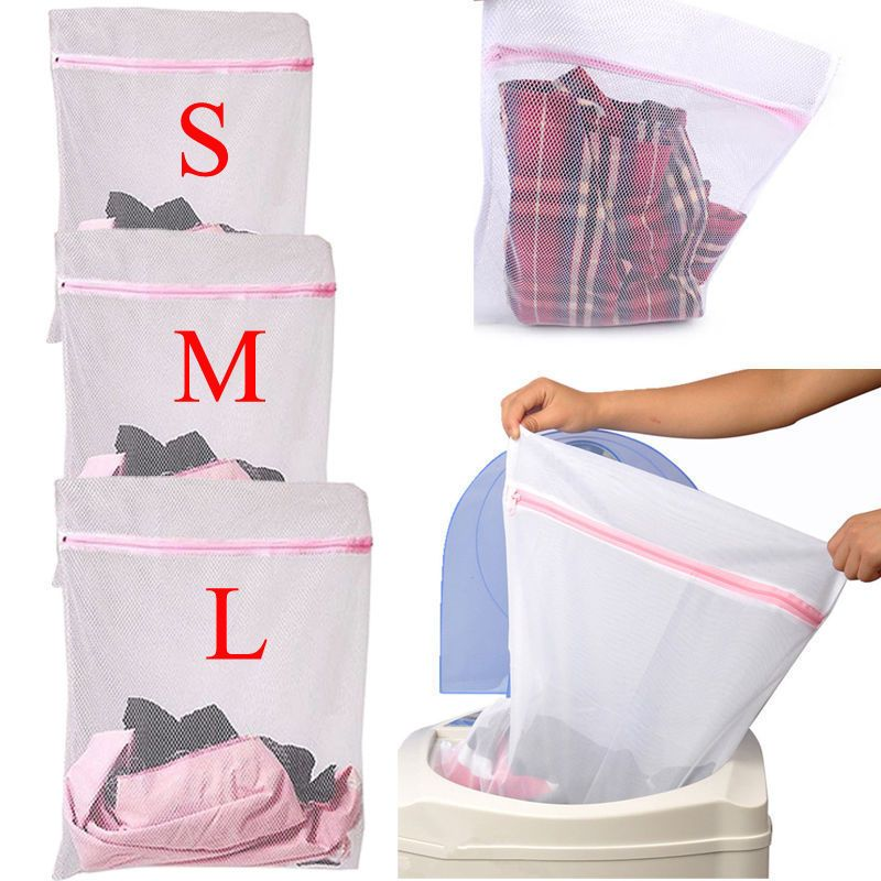 Pretty Household Quality Zipped Cleaner Net Mesh Socks Bra Underwear Washing Bag