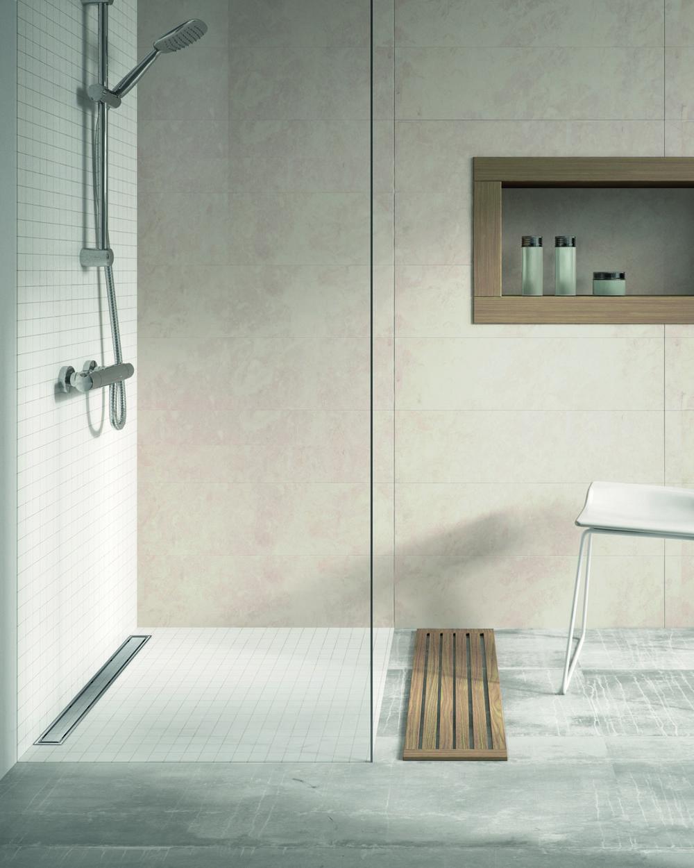 Instalación acabada canaleta Linnum de #Jimten. #reforma tu #baño ...