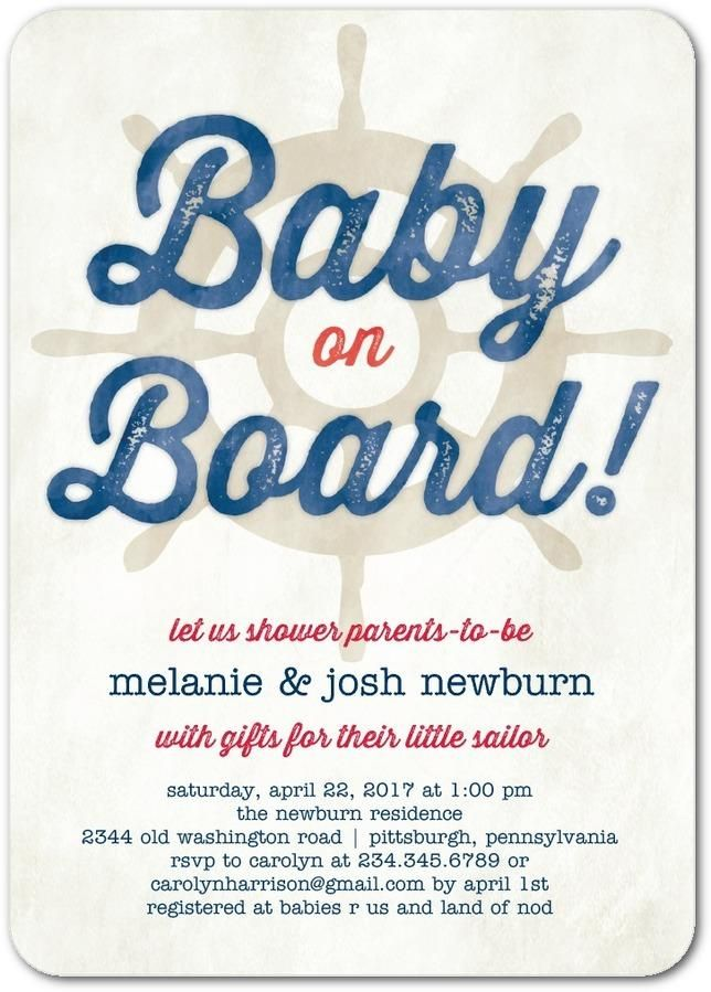 Baby on board! Go for a clever nautical theme for your baby shower ...