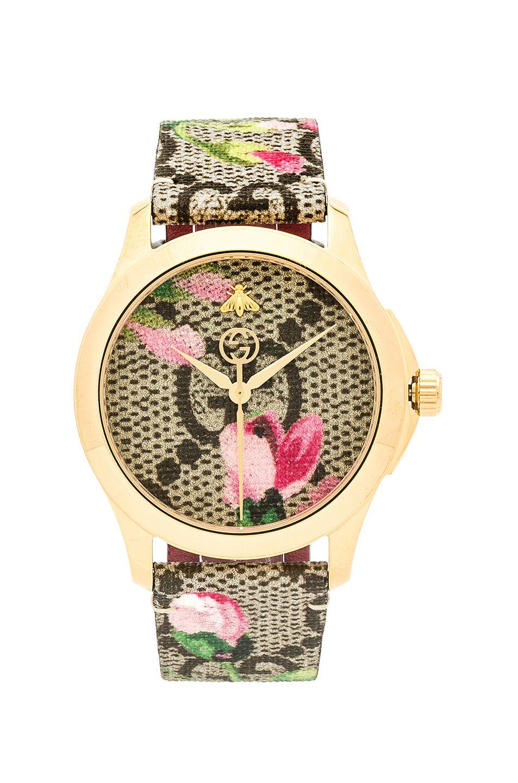 44658fa754c GUCCI 38MM G-Timeless Floral Print Watch.  gucci