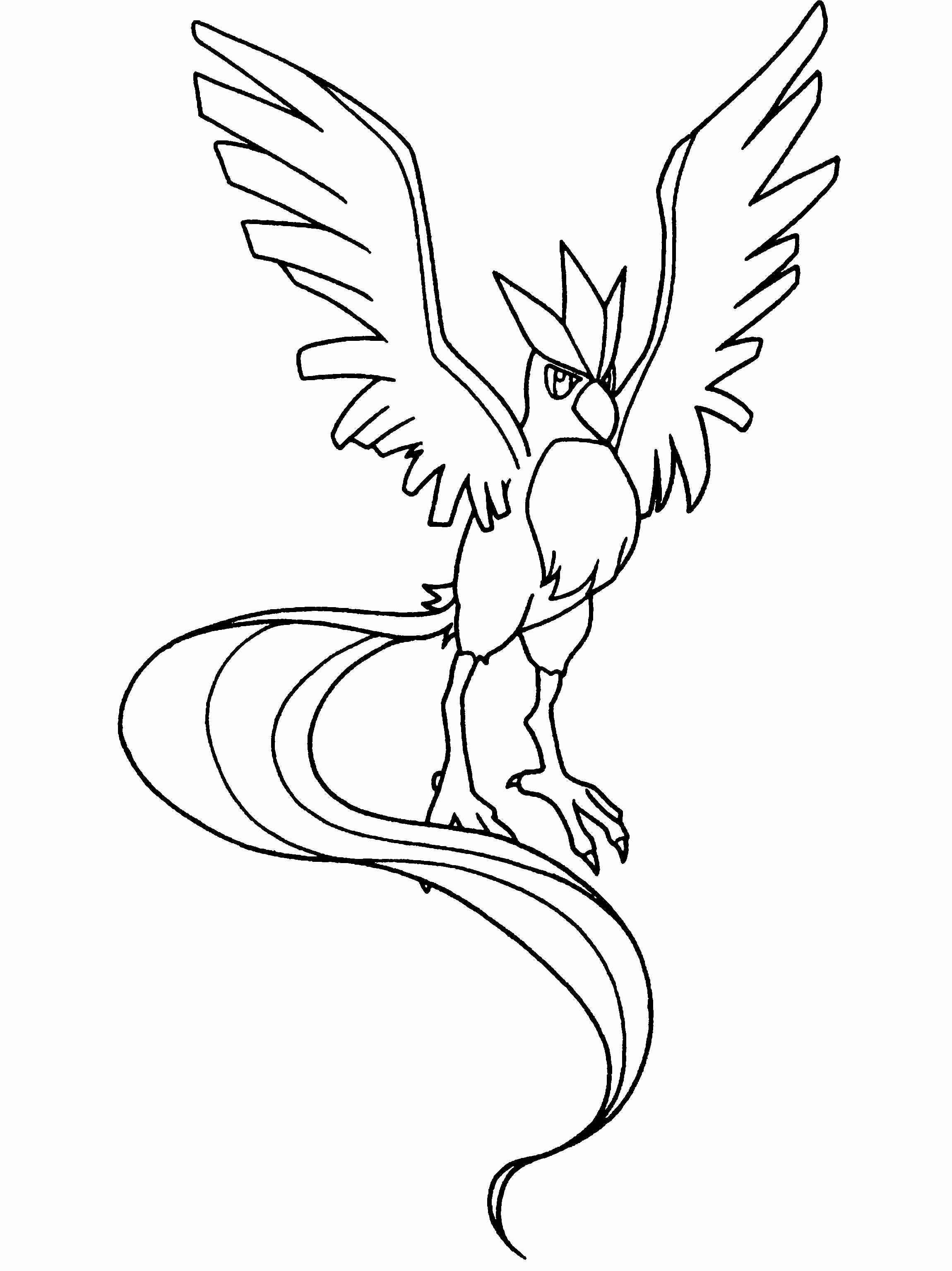 A Great Bird Pokemon Coloring Page Coloring Pages Lineart Pokemon