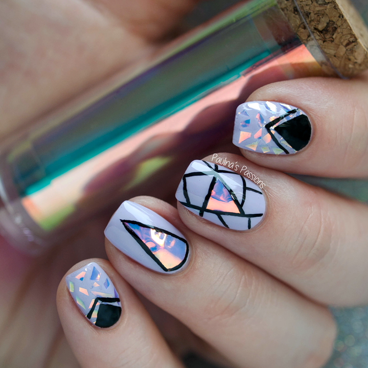 Holographic Foil Nail Art Design (Paulina\'s Passions) | Art & draw ...