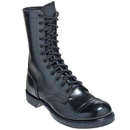 5b6e301baa4 Corcoran 975 Mens Black USA Made Military Jump Boots | FootwearStore ...