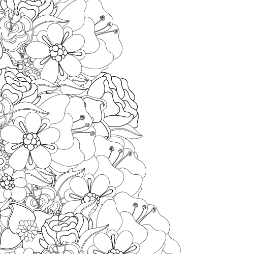Advanced Flower Coloring Pages 9 | Advanced Flower ...