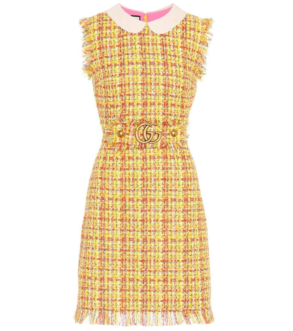 1a330fa9b4c GUCCI Tweed dress. #gucci #cloth # | Gucci | Tweed dress, Gucci ...