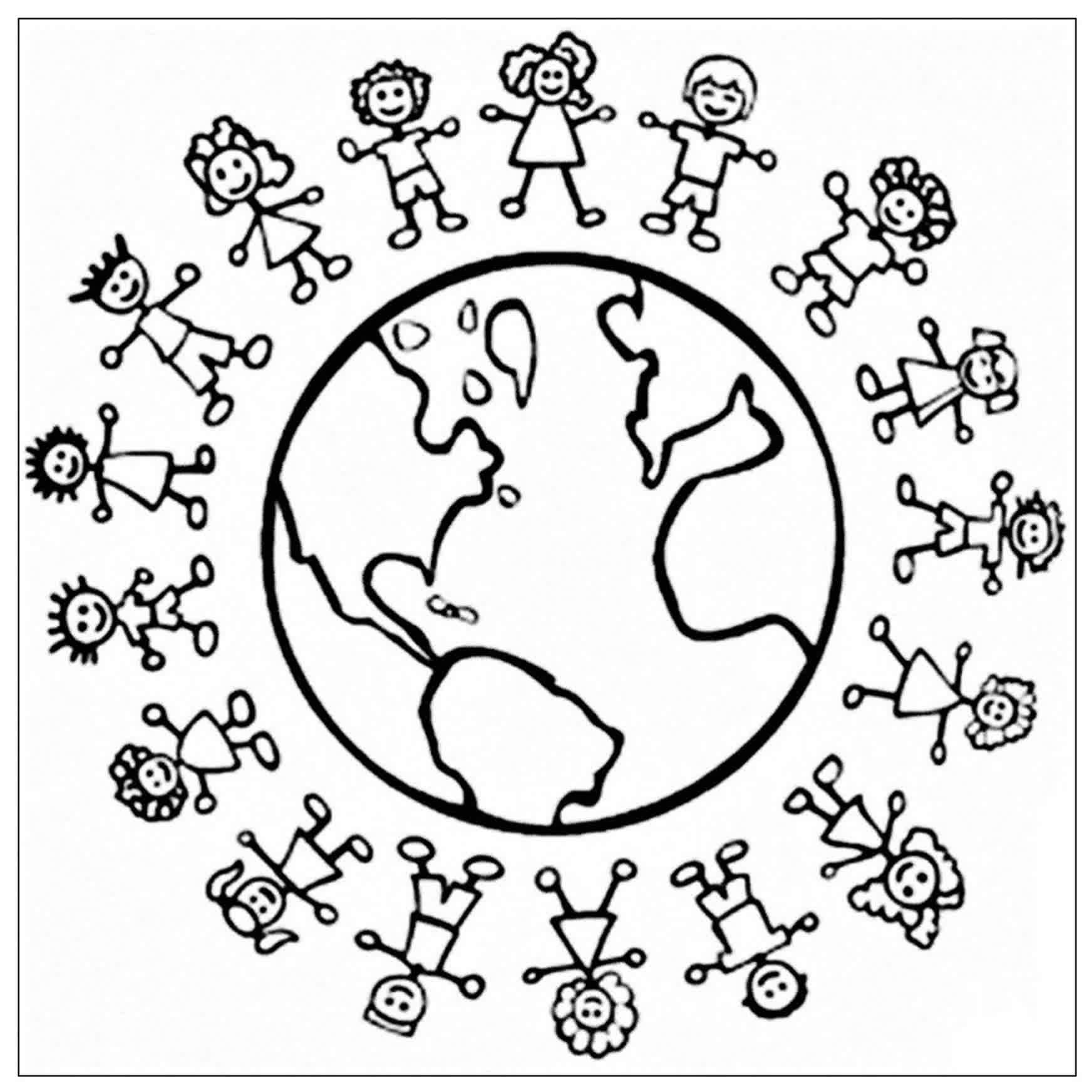 Disegni Da Colorare Di Bambini Intorno Al Mondo.30 Ricerca Disegni Bambini Del Mondo Da Colorare