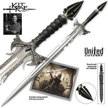 BUDK Catalog: Kit Rae Sedethul Sword, love this mid-evil look, and loving the genuine leather. Also it's over 40 inches!! Hmmmm decisions