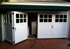 Lifetime 11ft X Hdpe Garage With Tri Fold Opening Doors Folding Garage Doors Garage Doors Carriage Style Garage Doors