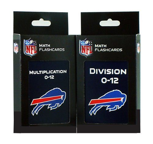NFL Buffalo Bills Multiplication and Division Flash Cards by KE Specialties. $19.33. Large, 3 1/2 x 5 1/2 Cards Makes it Easy for Kids to Handle and Read.. Includes One Box of Multiplication Flash Cards and One Box of Division Flash Cards. Goes Anywhere and Can be Used Alone or With Others. A Proven Learning Tool That Helps Reinforce and Build Math Skills. A Great Way to Interest Your Child in Math and Make Learning Fun. Looking for an exciting way to help your ...
