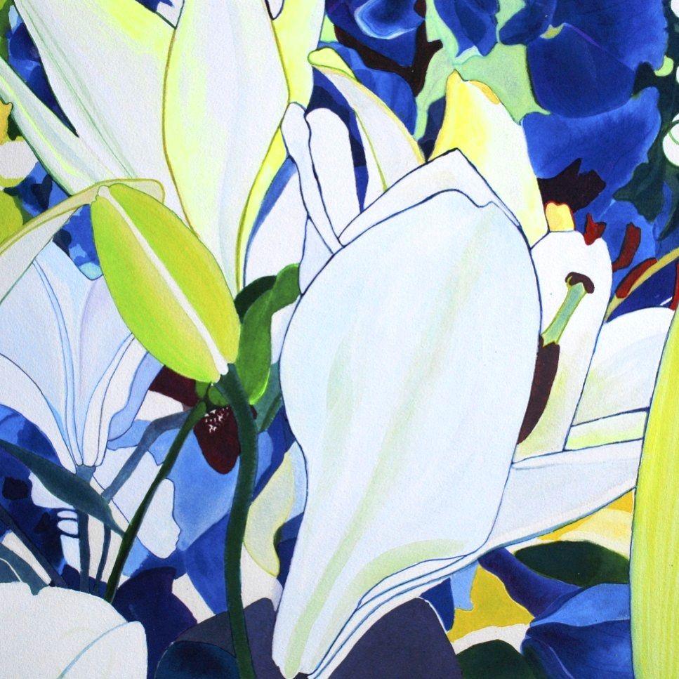 white lilies - 3 - 2014 by Anne Lund Sørensen