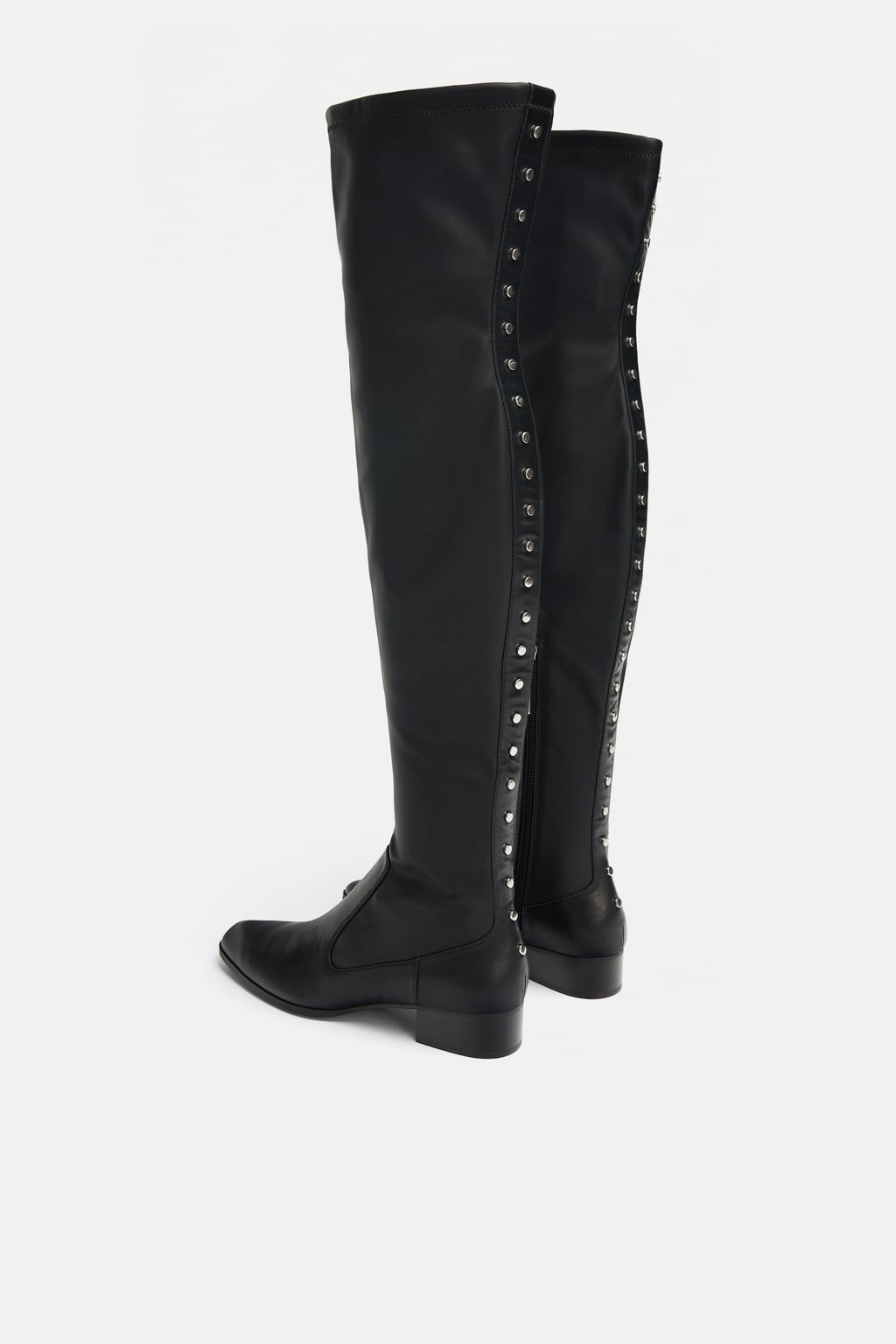a819fa4b1dd Image 5 of STUDDED FLAT STRETCH BOOTS from Zara